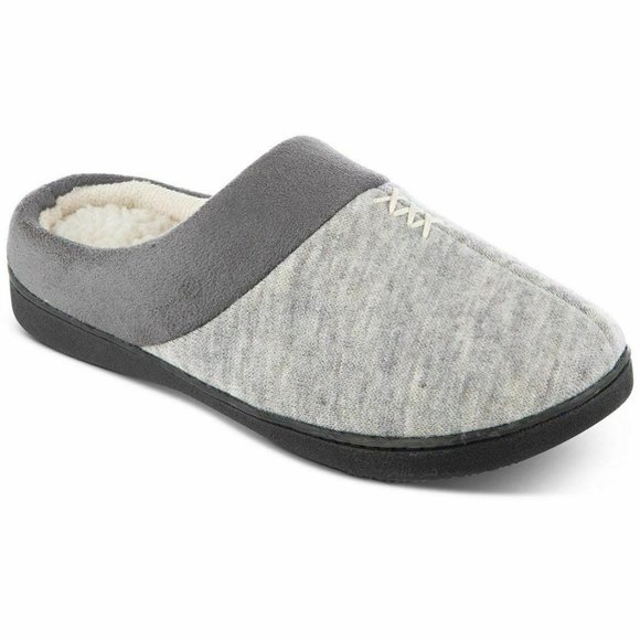 Isotoner Women's Marisol Microsuede Slippers Gray